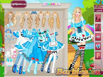 Барби игры для девочек джинсы одевалки